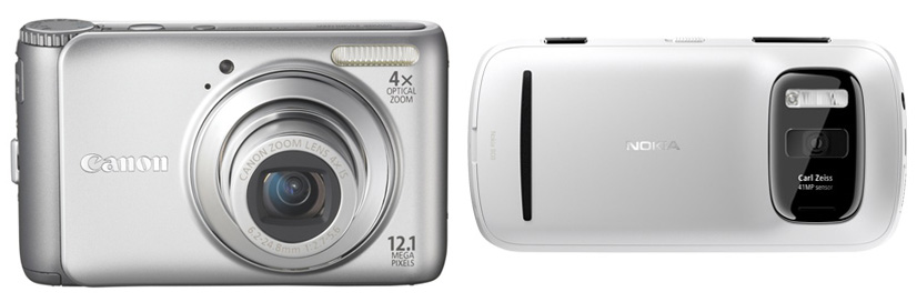 Canon A3100is i Nokia 808