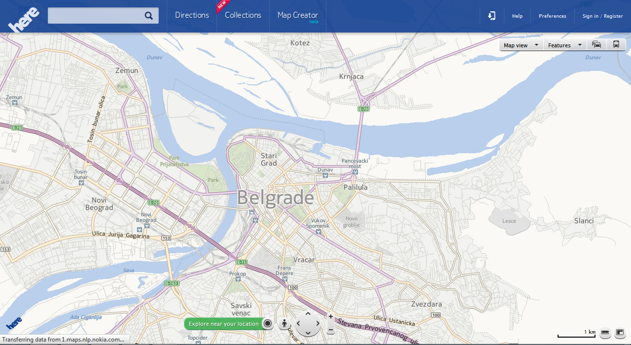Here maps Beograd