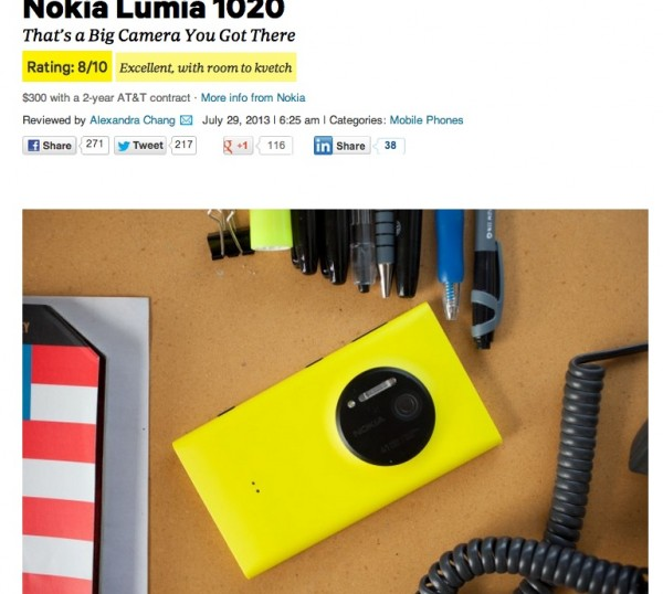 Wired screenshot recenzija Lumia 1020