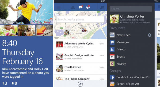 Facebook Beta Lumia