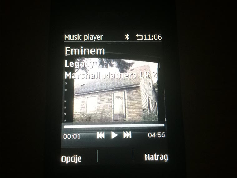 Nokia 515 UI Music Player