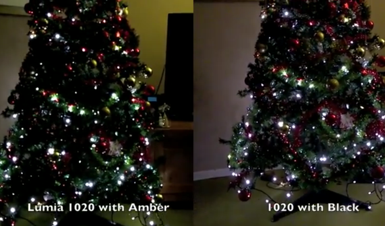 Nokia Lumia 1020 Amber vs Black low light video