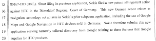 Nokia v. Google Maps and Navigation