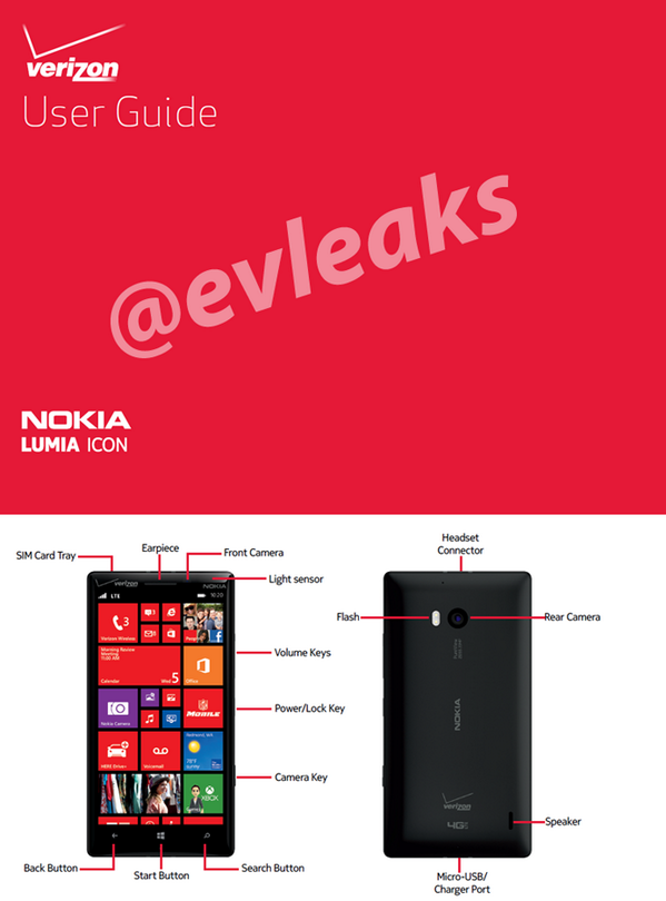 Lumia Icon evleaks