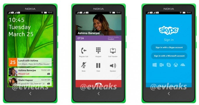 Nokia Normandy Android UI evleaks