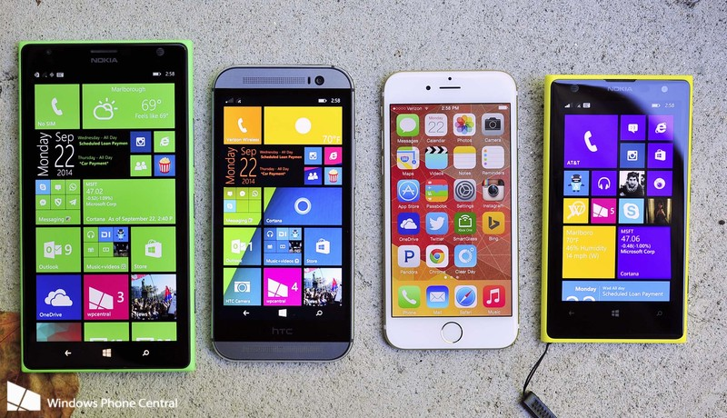 iPhone_6_versus_Best_Windows_Phones Lumia 1520, 1020, One M8