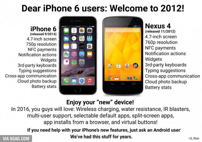 iphone6 nexus 4