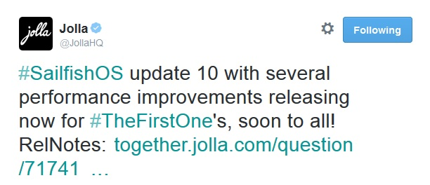 jolla sailfish os update10