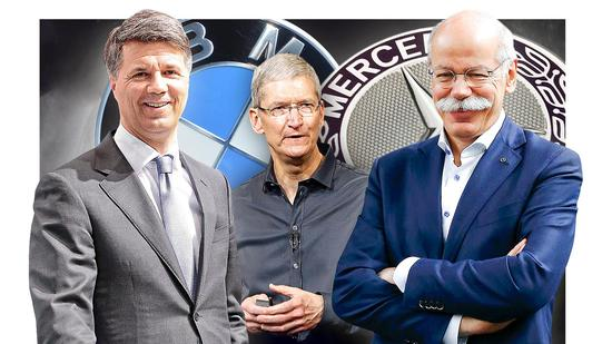 Here, Apple,Daimler, BMW
